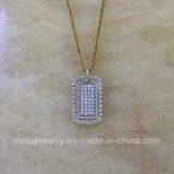 다이아몬드를 가진 고품질 형식 보석 순은 펜던트
