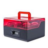 Акриловая коробка уплотнения с портативный фиксировать ручки и номера