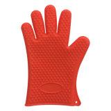 台所用品のベーキングのための耐熱性オーブンのミットのシリコーンゴムBBQの手袋