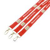Poliéster Breakaway cordón de seda serigrafiada con gancho de metal