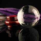 Sandblast 80mm Crystal Globe Globe for Business Gift