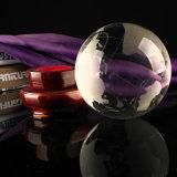 Sandblast Globo de Cristal de 80mm para regalos para empresas