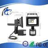 10W PIRセンサーLEDの機密保護の洪水ライト