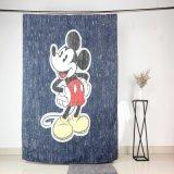 Impresión de pantalla Mickey Cute Heavy Duty Fabric cortina de ducha