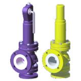 Revestida a PTFE tipo abaixo da válvula de alívio de segurança (WA42F)