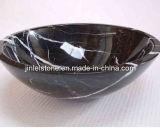 Noir poli lavabo en granit du bassin naturel en céramique pour salle de bains cuisine