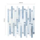 Fabricantes lineares del azulejo de mosaico del vidrio manchado de la pared del cuarto de baño