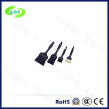 Anti-Static Black Round Handle Especial Soft PP / PA Brush