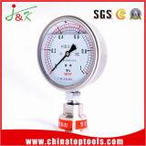 セリウムが付いている衝撃の証拠オイルの詰物の圧力計の圧力計