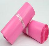 Sacchetto impaccante del LDPE della fabbrica della busta del corriere di plastica su ordinazione di colore rosa
