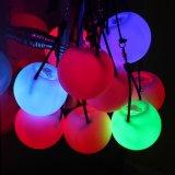 O fulgor ilumina acima esferas da probabilidade de intercepção do diodo emissor de luz para a dança