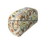 Polyester met de Volledige Kosmetische Zakken van de Dames van de Schoonheid van de Manier van Af:drukken, Make-up Bags&Cases met een laag die wordt bedekt die