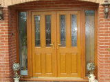 Signal Arch Window external Solid Wood Face Hand Door Fan-in