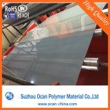 Hoja rígida plástica dura del PVC del alto color gris brillante opaco para el doblez frío