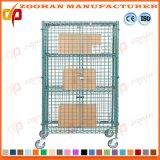 Recipiente Nestable galvanizado Foldable da gaiola do rolo do fio da segurança (Zhra52)