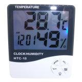 HTC-18 빛난 전시 시계 온도 및 습도 미터