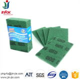 Green Durable Abrasive Kitchen Cleaning Scrub Pad