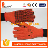 Ddsafety Baumwolle 2017 oder Polyester gestrickte Handschuhe Belüftung-Punkte