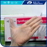 Gants remplaçables libres M=4.5gr de latex libre de poudre de gants de vinyle de Dispsoable