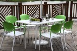 Het stapelbare Plastic het Dineren van het Huis van de Tuin van het Bureau van de Stoel Meubilair van het Hotel