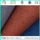 PU revestido de cuero Jacquard imitación tela de lino sofá con hilo catiónico