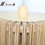 Lâmpada cónica de madeira moderna do pendente para a sala de jantar