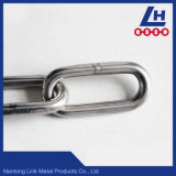 2mm-16mm DIN763 Cadena de eslabones de acero inoxidable estándar