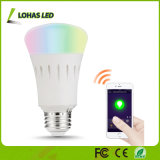 Colorir o bulbo esperto controlado WiFi em mudança do diodo emissor de luz de RGBW E26 3W 5W 7W 9W com APP
