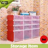 Gabinete de armazenamento plástico do organizador da sapata do indicador de 15 cubos