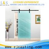 Porta de celeiro vitrificada interior com ferragem da porta deslizante (LS-SDU-8010)