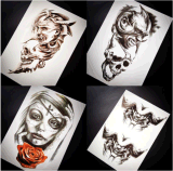 Стикер Tattoo искусствоа стикера Tattoo большого черепа дьявола временно