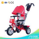 [4-ين1] [نو مودل] طفلة درّاجة ثلاثية مع 3 عجلات
