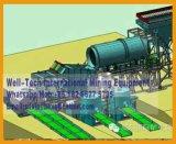 Machine van de Zeeftrommel van het Onderzoek van de placer de Gouden
