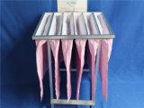 Sacchetti filtro Pocket del collettore di polveri di colore rosa di filtro dell'aria F7