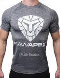 Personnaliser le coton de la qualité des hommes faits les T-shirts bleus de polo