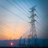 Transmission de puissance électrique de l'angle de la tour d'acier de structure en treillis métallique