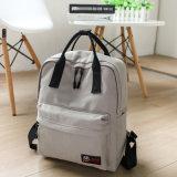 Double sac de course de grande capacité de sac à dos de mode d'élève de sac de toile de sac d'épaule de toile