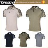 5 chemises extérieures de couleurs pour le T-shirt militaire extérieur Camo des hommes