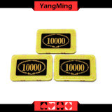 Microplaquetas retangulares/póquer de microplaquetas de cristal Anti-Falsificando do casino para casino dedicado que joga Gamesmodel Ym - Cp002