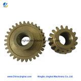 Шестерня точности CNC Customed подвергая механической обработке медная