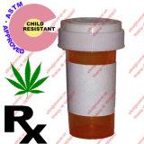 OEM resistente do tampão da criança reversível plástica azul do tampão dos tubos de ensaio dos tubos de ensaio da farmácia