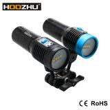 최신 판매 Hoozhu 최대 2600 Lm 잠수 영상 램프는 120m V30를 방수 처리한다