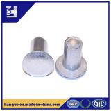Nickel/zinc ou tout autre rivet semi-tubulaire plaqué