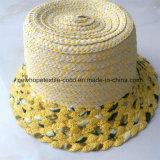 100% бумаги соломенной шляпе, Мода Смешанные Стиль Col с цветок украшения