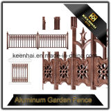庭の機密保護のための装飾によってカスタマイズされる鋳造アルミの鉄の塀