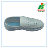 Anti-Static PVC agujeros Cleanroom trabajo zapatos