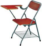 Sf-37f Schule-hölzernes Büro-Training, das Stuhl mit Schreibens-Auflage-Bücherregal skizziert