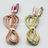 Charge rapide 1 mètre de tache en acier Micro câble USB pour tout le téléphone portable
