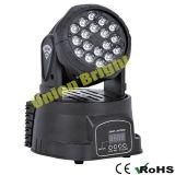 WÄSCHE-Effekt-Licht LED-18X3w mini bewegliches Haupt