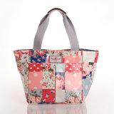 방수 PVC 화포 꽃 패턴 덧대어깁기 끈달린 가방 (99171)